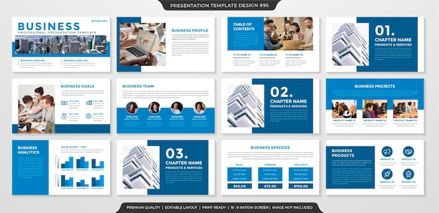 Clean style presentation layout template