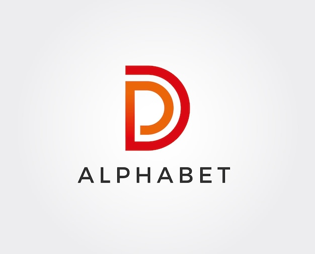 Clean and stylish logo forming the letter d