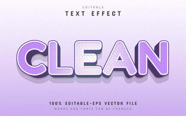 Clean text, cartoon style with dots text effect