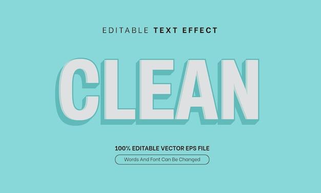 Чистый текстовый эффект синий простой элегантный редактируемый эффект шрифта для продажи баннера
