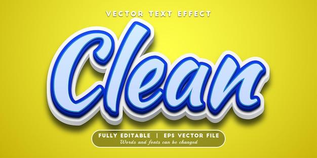 깨끗한 텍스트 효과, 편집 가능한 텍스트 스타일