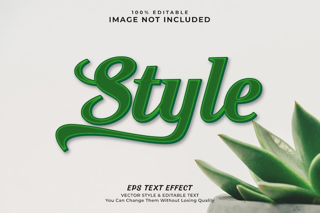 Clean text effect