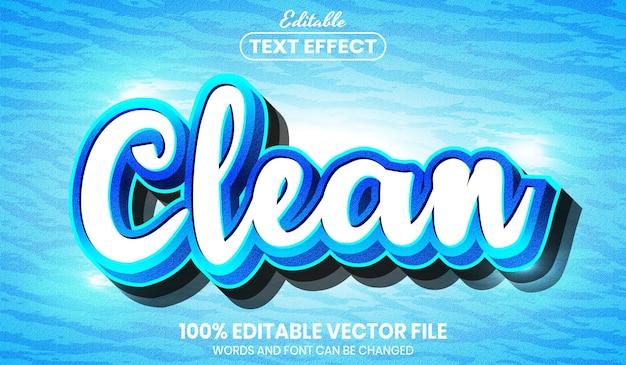 Чистый текст, редактируемый текстовый эффект в стиле шрифта