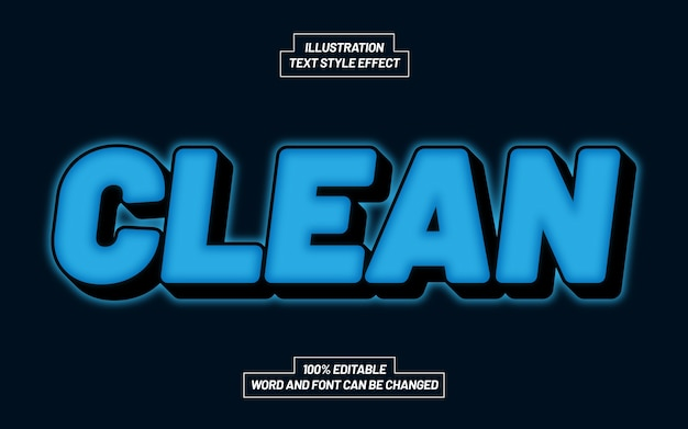 Clean text style effect