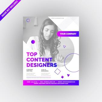 Clean ultra modern geometric multipurpose flyer