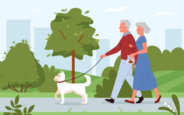 개 컨셉맨 여성 캐릭터가 강아지 청소 후 똥을 들고 산책한 후 청소