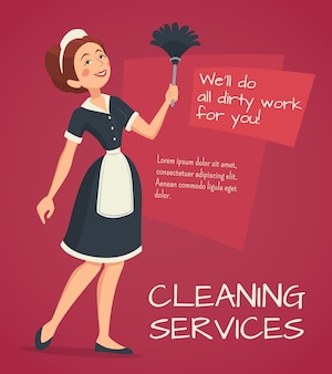 Cleaning Advertisement Illustration