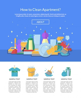 Cleaning banner for landing page