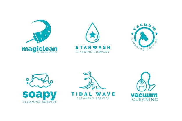 Cleaning business logo template collection