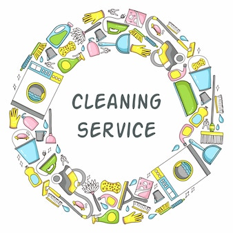 Cleaning equipment circle template