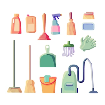 Cleaning equipment set