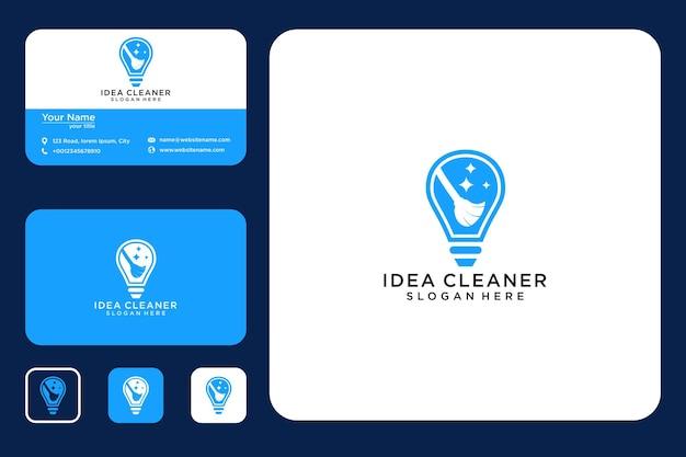 クリーニングのアイデアロゴデザインと名刺