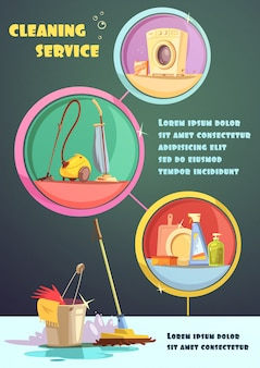 Cleaning infographic illustration