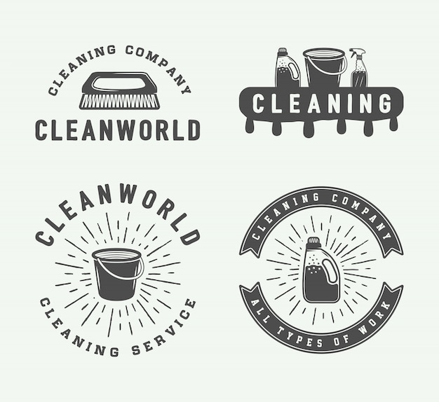 Cleaning logo badges