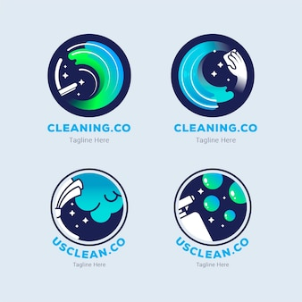 Cleaning logo collection design
