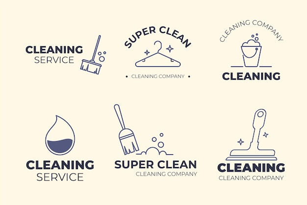 Cleaning logo collection template design