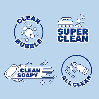 Cleaning logo design collection