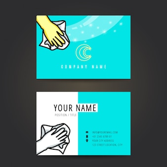 Cleaning service business card.