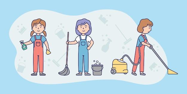 청소 서비스 승무원 개념