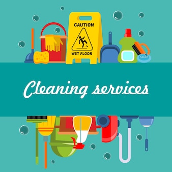 Cleaning service flat template