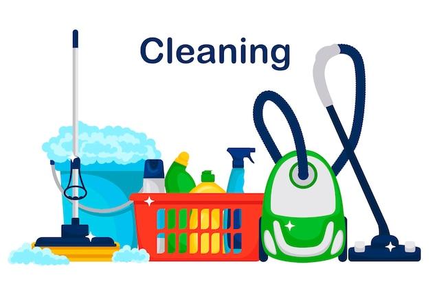 Иллюстрация службы уборки