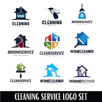 Cleaning service logo designs template
