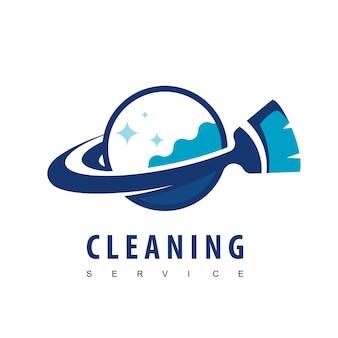 청소 서비스 로고