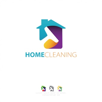 Cleaning service logo