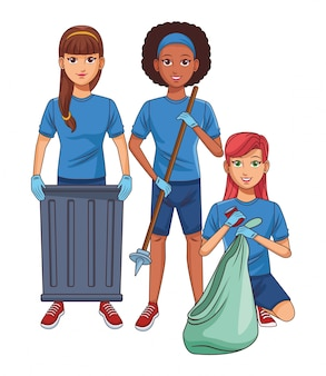 Cleaning service person avatar cartoon character