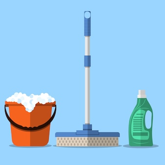 Cleaning set. mop
