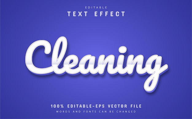 Cleaning text, editable 3d text effect