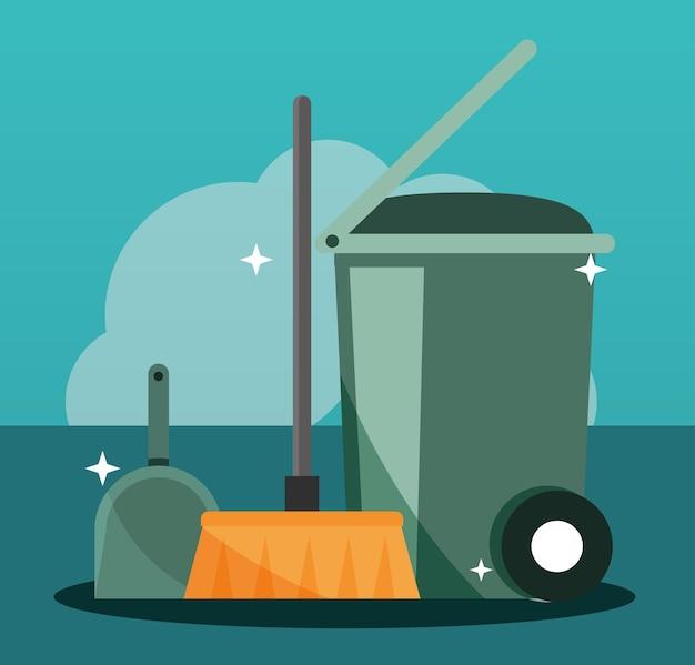 폐기물 장비 청소