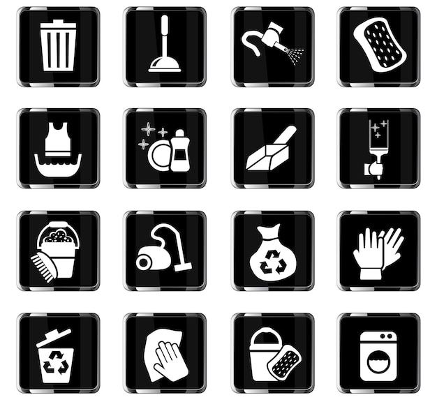 Cleaning web icons for user interface design