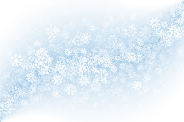 Clear blank winter background