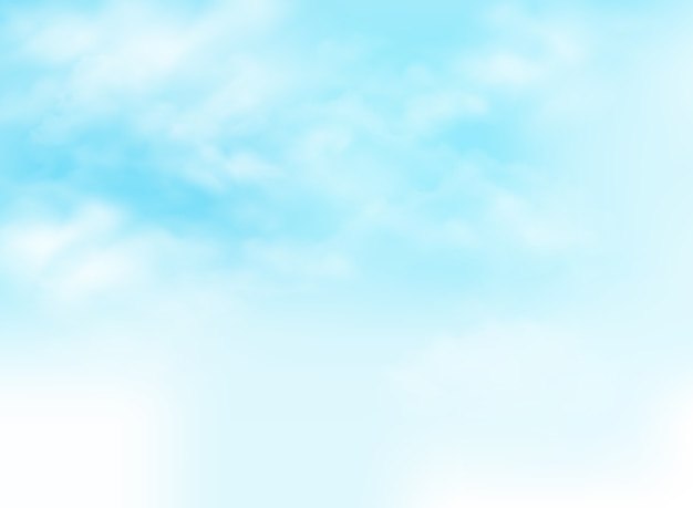 Clear blue sky with clouds pattern background illustration.
