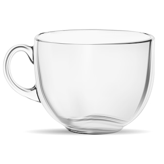 Clear coffee cup