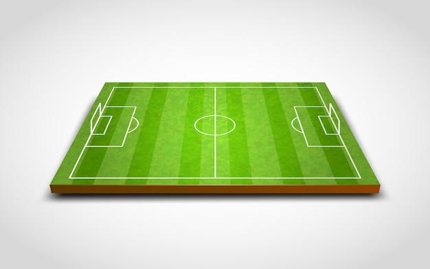 Чистый зеленый футбол или футбольное поле