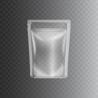 Clear transparent plastic bag
