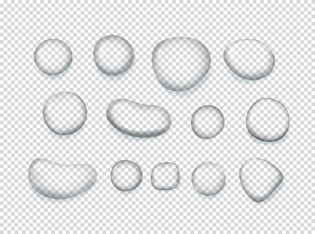 Clear water drops clipart.
