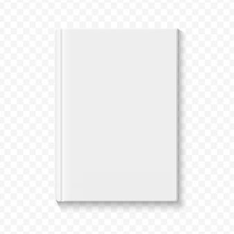 Clear white blank book cover