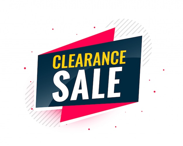 Clearance sale banner in creative design