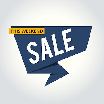 Clearance sale banner for shop, online store