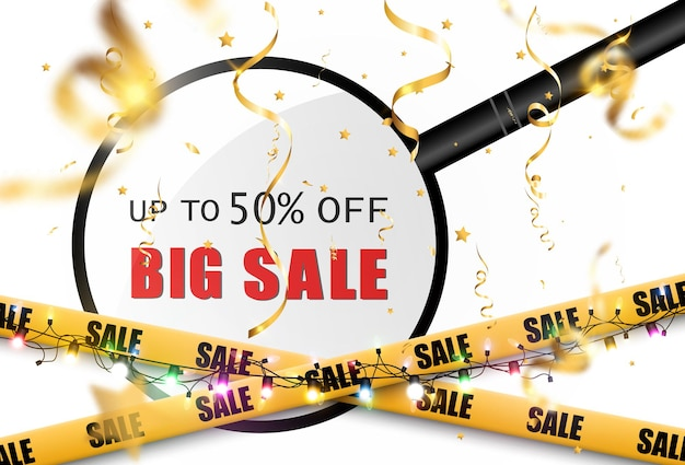 Clearance sale banner on transparent background
