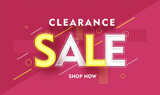 Clearance sale banner.