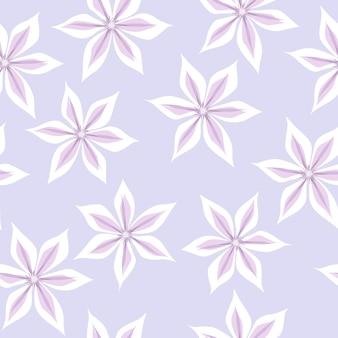Цветочный узор клематиса в стиле рисованной в пастельных тонах