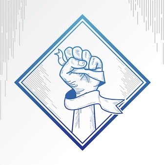 Clenched fist background