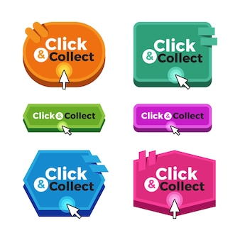 Нажмите и соберите коллекцию кнопок