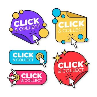 Fare clic e raccogliere la raccolta dei pulsanti