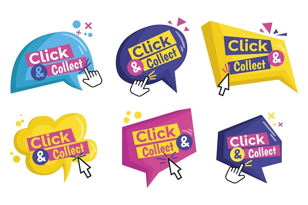 Click and collect button collection
