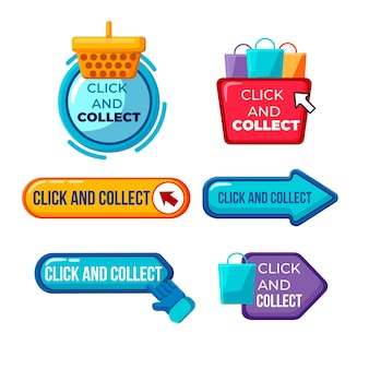 Click and collect buttons collection